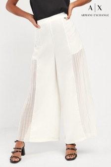 Armani Exchange White Culotte Trousers
