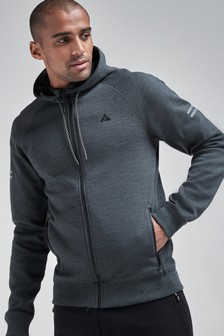 Charcoal Zip Through Hoody