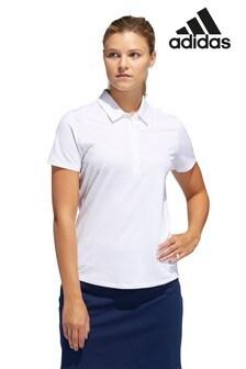 adidas Golf White Ultimate Polo