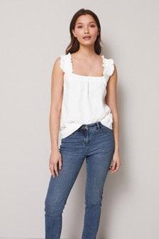 White Linen Cami