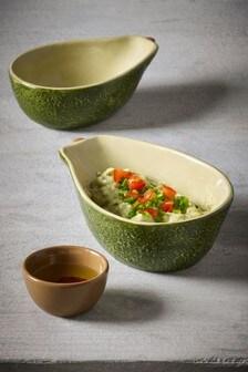 Avocado Shaped Dip Bowls