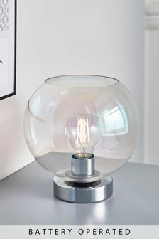 Battery Operated Sphere Table Lamp