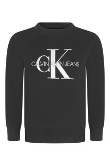 Black Monogram Logo Sweater