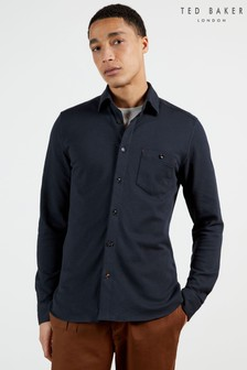 Ted Baker Blue Morty Texture Shirt
