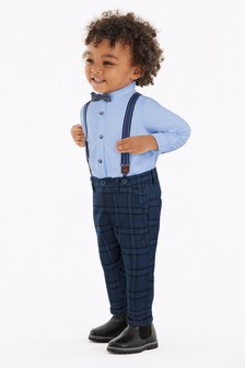Blue Shirt And Trousers Set (3mths-7yrs)