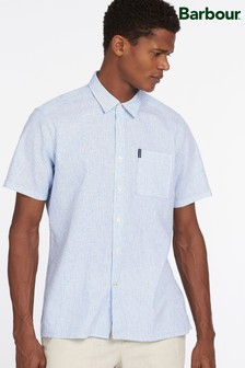 Barbour® Linen Stripe Short Sleeve Shirt