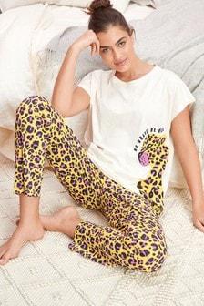 Yellow Animal Cotton Pyjamas