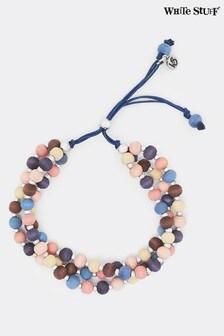 White Stuff Purple Layered Verity Bead Bracelet