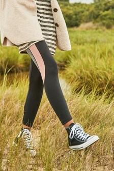 Grey/Pink Colourblock 7/8 Technical Leggings