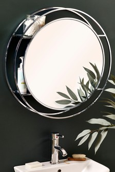 Chrome Concealed Shelving Mirror