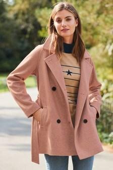 Blush Belted Coat
