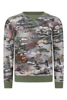 Boys Camouflage Print Cotton Sweater