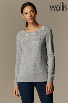 Wallis Pearl Scatter Neck Jumper
