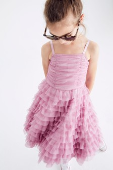 Lilac Tulle Tiered Party Dress (3-16yrs)