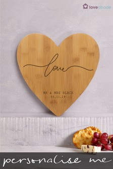 Personalised Love Cheeseboard by Loveabode