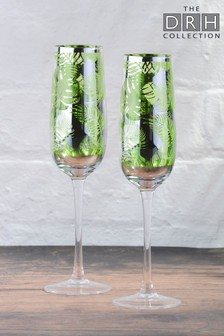 2 Pack Champagne Flutes By The DRH Collection