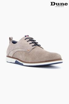 Dune London Grey Balad Punched Plain Wedge Gibson Shoes