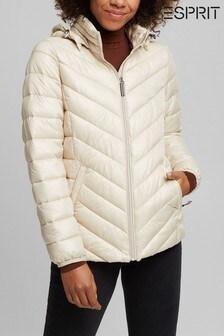 Esprit Cream Padded Jacket