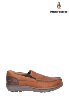 Hush Puppies Tan Murphy Victory Causal Slip-On Moccasin Shoes