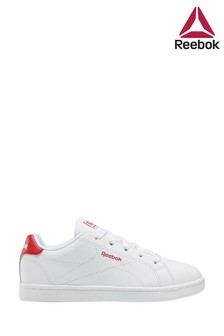 Reebok White/Red Royal Youth Trainers