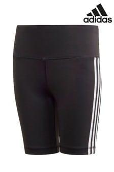 addas Black 3 Stripe Cycling Shorts