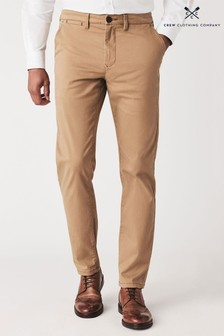 Crew Clothing Company Tan Slim Chinos