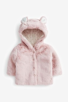 Pink Faux Fur Jacket (0mths-2yrs)