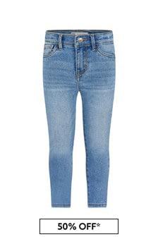Levis Kidswear Girls Blue Cotton Jeans
