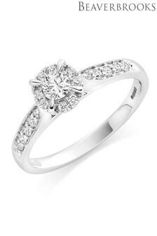 Beaverbrooks 18ct White Gold Diamond Solitaire Ring