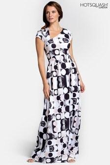 HotSquash Asymmetric Neckline Maxi Dress