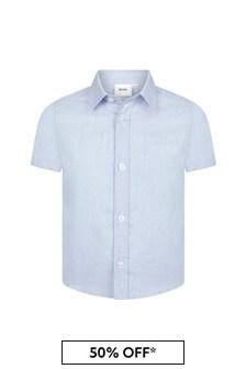 Boys Blue Cotton Shirt