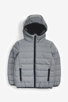 Silver Reflective Puffer Jacket (3-16yrs)