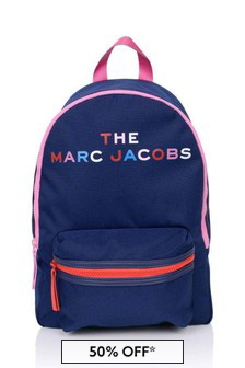 Girls Blue Logo Backpack