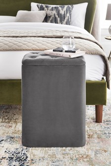 Paris Velvet Laundry Storage Stool