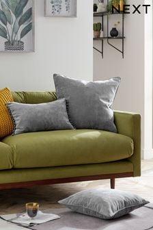 Soft Velour Small Square Cushion