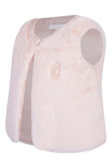 Girls Pink Faux Fur Gilet