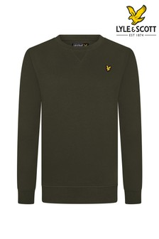 Lyle & Scott Green Classic Crew Neck Fleece