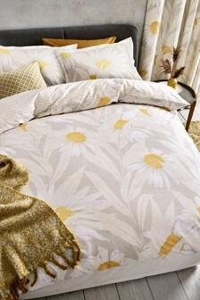 Modern Daisy Duvet Cover and Pillowcase Set