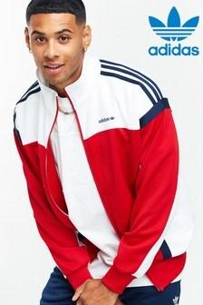 adidas Originals Red Colourblock Track Top