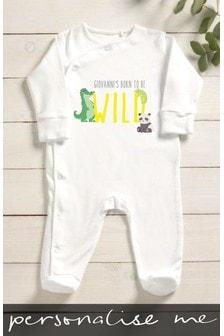 Personalised Born To Be Wild Sleepsuit