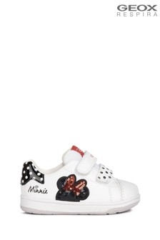 Geox Baby Girl's New Flick White/Black Shoes