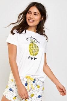 White Pineapple Short Set