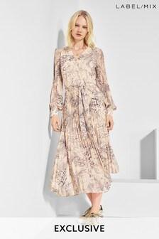 Mix/A.W.A.K.E. Mode Floral Print Dress