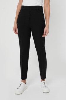 Elastic Back Straight Leg Trousers