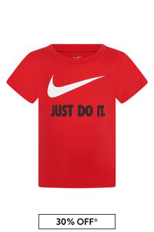 Nike Baby Boys Red Cotton T-Shirt