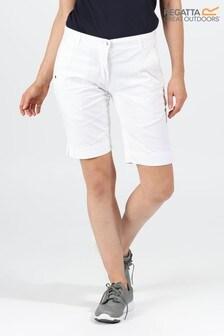 Regatta White Solita II Shorts