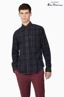 Ben Sherman Port Printed Corduroy Check Shirt