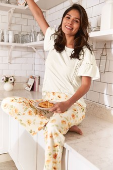 Orange Floral Pyjamas