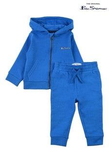 Ben Sherman® Blue The Original Zip Through Top And Joggers Set