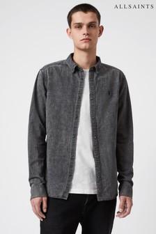 AllSaints Black Wash Burlington Shirt